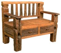 Rustic Benches & Stools