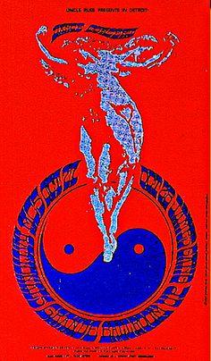 Grande Ballroom Detroit ... 1967 .... MC5 .... The Thyme .... The Paupers .... Gang .. ... artist ..... GARY GRIMSHAW