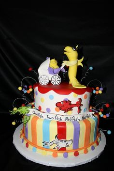 Dr. Suess Baby Shower Cake | Flickr   Photo Sharing!