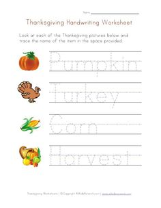 Thanksgiving Themed Handwriting Worksheet - - pinned by @PediaStaff – Please Visit http://ht.ly/63sNt for all our pediatric therapy pins