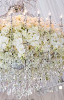 chandelier tented party event wedding