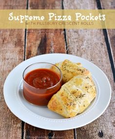 Supreme Pizza Pockets Recipe made with Pillsbury Crescent Rolls