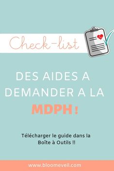 Printable : check-list des aides à demander à la MPDH - Téléchargement dans la Boite à Outils ! #autisme #handicap Autism Education, Education System, Individual Education Plan, Special Educational Needs, Education And Training, Aide, Understanding Yourself, School Days, Asperger