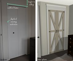Adding Molding to Door Frames (The Plan) | The Painted Hive-closet doors