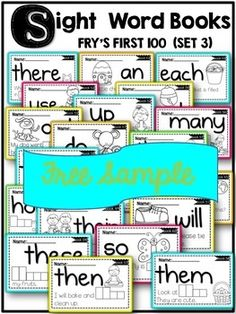 FREE SIGHT WORD BOOKS preview