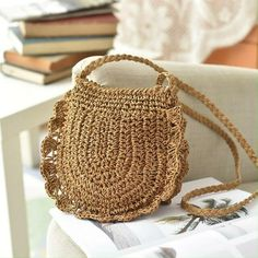 Tan Shoulder Bag, Over The Shoulder Bags, Soft Leather Handbags, Side Bags, Crochet Handbags, Types Of Bag, Casual Bags, Knitted Bags, Crochet Blanket Patterns