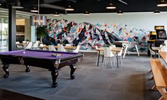 "A rec area in the new space. The company's core values include ""working, playing, and winning"" together. Photo courtesy of Pluralsight."