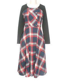 Look at this Newton Check Dress on #zulily today!