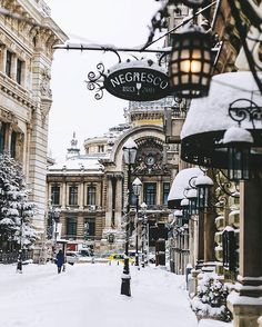 Bucharest Old Town – Bucharest Old Town – – Winterbilder Places To Travel, Places To See, Winter Szenen, Winter Europe, Winter Time, Winter Christmas, Christmas Lights, Christmas Time, Belle Photo