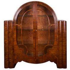 Art Deco Bookcase Display Cabinet