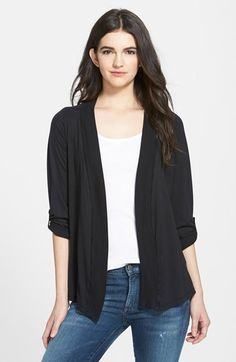 Splendid Open Front Jersey Cardigan available at  Nordstrom Cardigan  Sweaters For Women 99365cd04