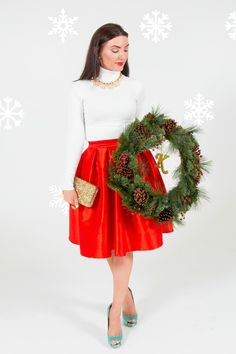 Kate Spade winter Christmas outfit