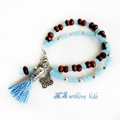 Tassel kids bracelet Bohemian girl bracelet by MSwithlove on Etsy