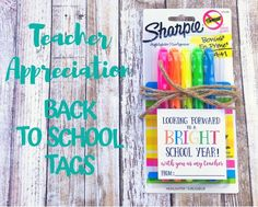 Back To School Gifts For Teachers, Welcome Back To School, Teacher Gift Tags, Teacher Appreciation Gifts, Teachers Aide, New Teachers, First Day Of School, School Fun, School Days