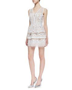 Kaity rrrrrrrrrreallllllly wants this one!!   Fola Lace Tiered Peplum Dress by BCBGMAXAZRIA at Neiman Marcus.