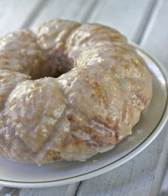 Cinnamon Donut Cake! Tastes like a Gigantic Cinnamon Glazed Donut!
