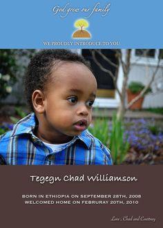 Adoption Birth Announcement.