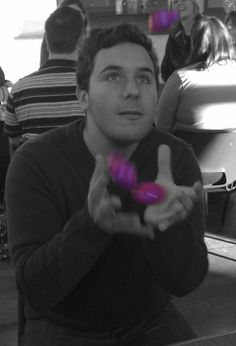 Fun and games at Purple Patch today! Look at that amazing juggling skill.