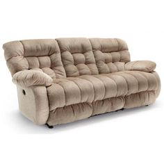The cozy Plusher is highly regarded as one of the most comfortable pieces of furniture in the Best Home Furnishings line, if not the world. This reclining sofa has overstuffed cushions that are just bursting at the seams with unbeatable comfort