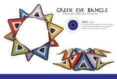 Image of Greek Eye Bangle Pattern -Digital