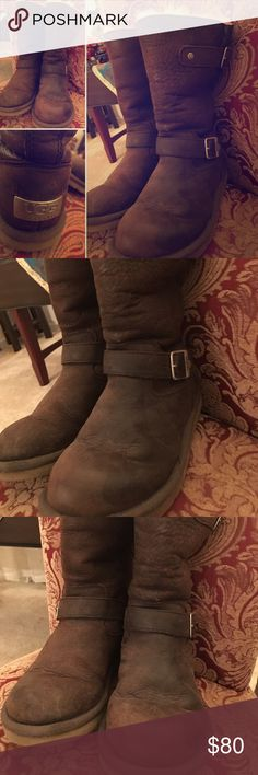 Ugg boots with buckles on the side  Women Winter Boots Ugg boots with buckles on the side. US size 6. Very warm and durable. Best condition. UGG Shoes Winter & Rain Boots