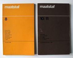 Dutch literary magazine Maatstaf, design: Pieter van Delft & Leendert Stofbergen / 1967-1968