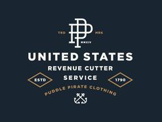 New shirt design for Puddle Pirate. The theme of the shirt represents the United States Revenue Cutter Service which was essentially the Coast Guard before the Coast Guard.