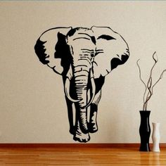 Elephant Wall Sticker. I like the elephant but I was thinking to just paint it on the wall.