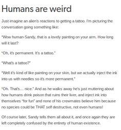 Humans Are Weird / Space Australia Tattoos