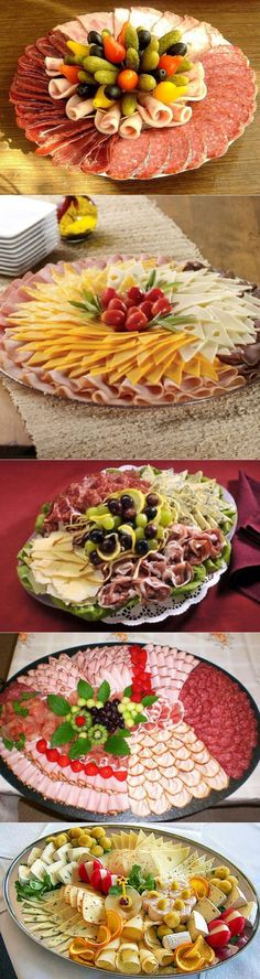recipes and delicious- Meat And Cheese Tray, Meat Trays, Meat Platter, Food Platters, Soup Appetizers, Great Appetizers, Delicious Appetizers, Best Fruit Salad, Food Carving