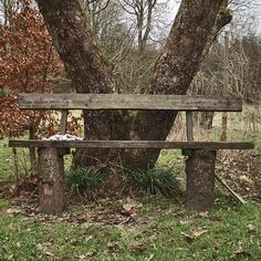 rustic bench; need this at the bus stop
