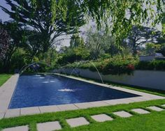 Rectangular Pool And Landscaping