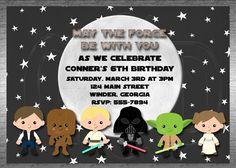 Galaxy Star Wars Invitation Inspired Boy or Girl -Printable Digital File by graciegirldesigns77 on Etsy https://www.etsy.com/listing/91468909/galaxy-star-wars-invitation-inspired-boy