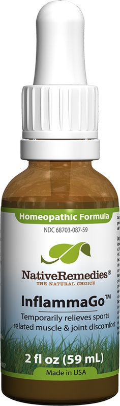 InflammaGo™ - Homeopathic remedy temporarily relieves minor aches and pain in muscles and joints