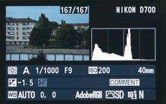 exemple de correction d'exposition avec Nikon et histogramme