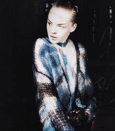 Siri Tollerod by Nick Haymes for Vogue China May 2008 Vogue China, Shades Of Black, Black And Grey, Fashion 2008, Dior Gown, Knitting Designs, Teal Blue, Fashion Details, Knitwear
