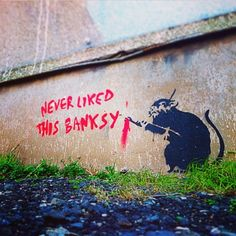 PARTAGE OF UNOFFICIAL : BANKSY............ON FACEBOOK............