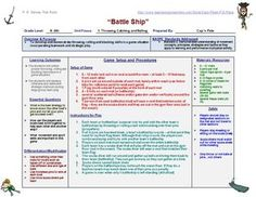 Pe Lesson Plan Template  Pe Lessons Template And Physical Education