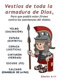 La Armadura De Dios Para Niños Google Search Bible For Kids