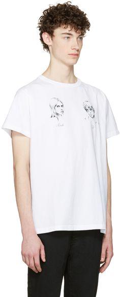 Off-White: White 'Till Death' T-Shirt | SSENSE