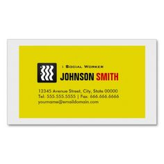 143 best social worker business cards images on pinterest business social worker urban yellow white business cards colourmoves
