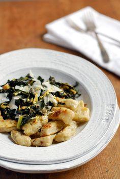 sun choke gnocchi with sautéed kale   brooklyn supper