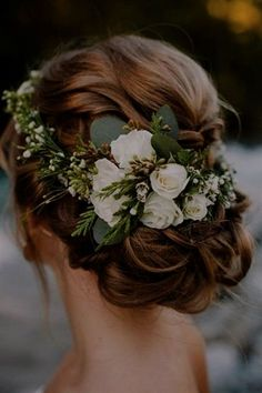 15 stylish wedding hairstyles for short hair! - For the wedding - 15 stylish wedding hairstyles for short hair! Elegant Wedding Hair, Short Wedding Hair, Wedding Updo, Trendy Wedding, Wedding Makeup, 2017 Wedding, Wedding Rustic, Dress Wedding, Wedding Ceremony