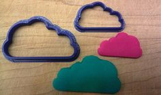 Cloud Cookie Cutter - Choice of Sizes - 3D Printed Plastic #Handmade3DPrint