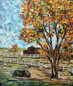autumn colors at the ranch eileen downes camino collage torn paper