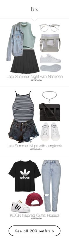 """""""Bts"""" by dhem-coline ❤ liked on Polyvore featuring adidas, Wildfox, American Apparel, MM6 Maison Margiela, Estradeur, Levi's, Alexander Wang, Topshop, Brixton and AR SRPLS"""