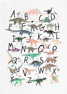 Time to learn the alphabet? Let this playful poster help you and get to know some dinosaurs at the same time! The Dino ABC Poster makes a lovely print for the children's room - and there are other dino motifs to combine with! Discover our full range of pl Abc Poster, Kids Poster, Movie Posters, Dinosaur Room Decor, Dinosaur Bedroom, Dinosaur Kids Room, Dinosaur Prints, Dinosaur Alphabet, Dinosaur Posters