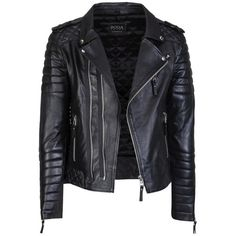 Kay Michaels Quilted Biker (€605) ❤ liked on Polyvore featuring outerwear, jackets, coats, leather jacket, 100 leather jacket, quilted jacket, quilted leather jackets, real leather jackets and biker style leather jacket