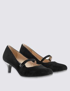 Pippa grey suede wide fit kitten heel. | Wide Fit Kitten Heels