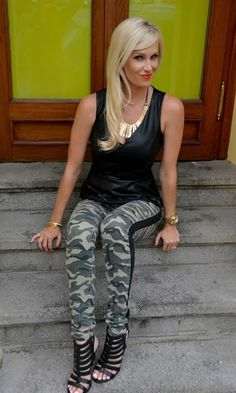 www.streetstylecity.blogspot.com Fashion inspired by the people in the street ootd look outfit heels leather top